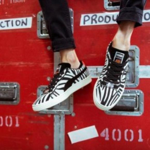 Paul Stanley Kiss Suede Sneakers Zebra